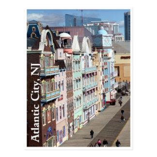 Passeio à beira mar cartão de Atlantic City,