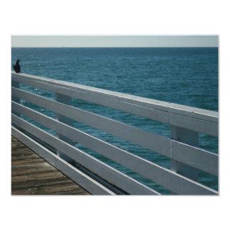 passeio à beira mar do oceano convite 10.79 x 13.97cm