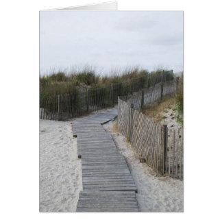 Passeio à beira mar para encalhar Atlantic City Cartão Comemorativo