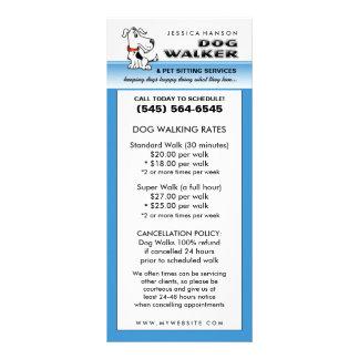 Passeio & animal de estimação do cão que sentam o 10.16 x 22.86cm panfleto