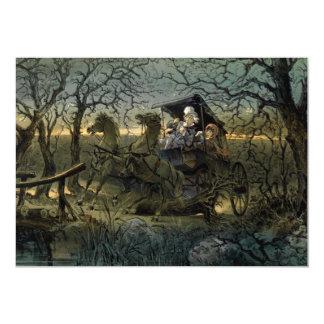 """Passeio através """"da floresta assombrada convite 12.7 x 17.78cm"""