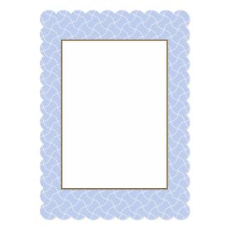 Passeio azul de Alice mini no jardim inglês do Convite 12.7 X 17.78cm