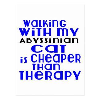 Passeio com meu design Abyssinian do gato Cartão Postal