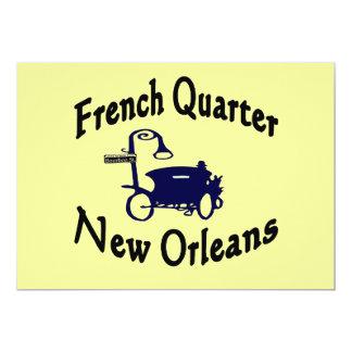 Passeio da carruagem do bairro francês convite personalizado