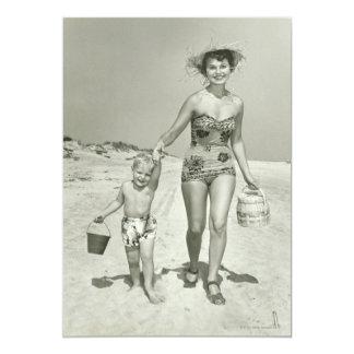 Passeio da mãe e do filho convite 12.7 x 17.78cm