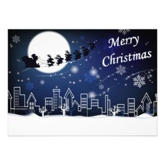 Passeio da Noite de Natal com cartão da cegonha Convites Personalizados