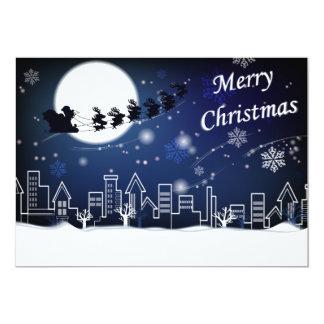 Passeio da Noite de Natal com cartão da cegonha Convite 12.7 X 17.78cm