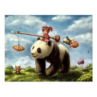 Passeio da panda cartão postal