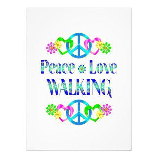 Passeio do amor da paz convite personalizado