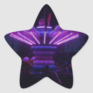 Passeio do carnaval na noite adesivos estrelas