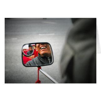Passeio do rickshaw, Beijing Cartão De Nota
