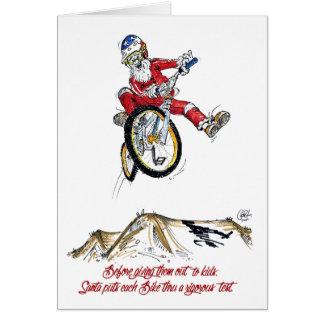 Passeio do teste do papai noel - cartão de Natal