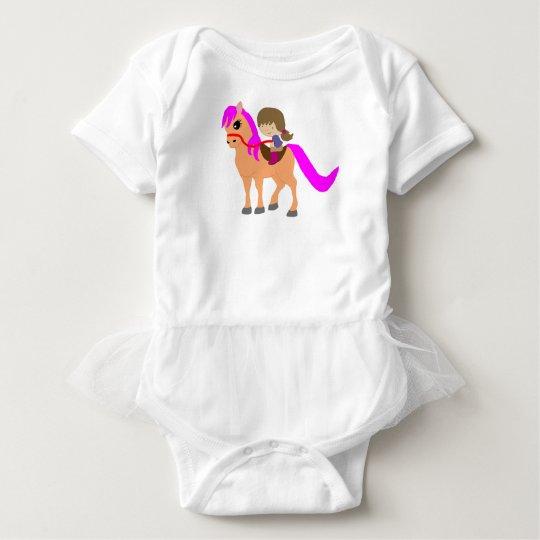 Passeio em meu pônei body para bebê