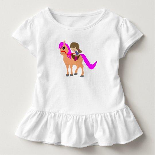 Passeio em meu pônei camiseta infantil