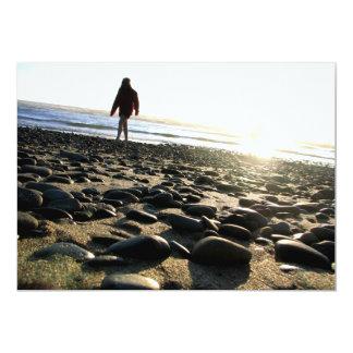Passeio em pedras convite 12.7 x 17.78cm
