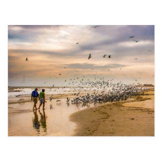 Passeio em uma fotografia do viagem da praia de cartão postal