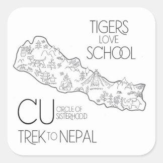 Passeio na montanha a Nepal - etiqueta do laptop