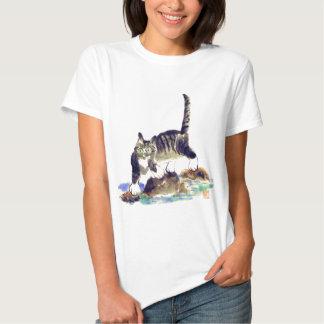 Passeio na montanha do gato malhado - a aventura t-shirt