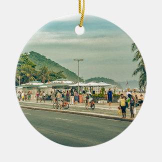 Passeio Rio de Janeiro Brasil de Copacabana Ornamento De Cerâmica