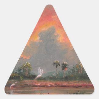 Passeio sobre ao por do sol - tributo ao preço de adesivo triangular