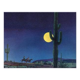 Passeio vazio do luar do cacto do Saguaro do sudoe Convites Personalizado