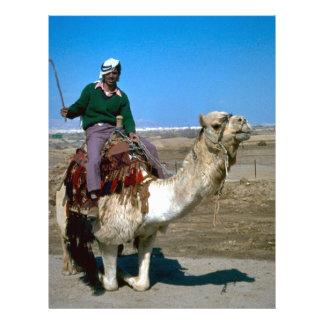 Passeios do camelo no ele Mar Morto Papeis De Carta Personalizados