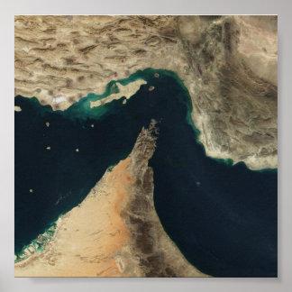 Passo da imagem do satélite de Hormuz Poster