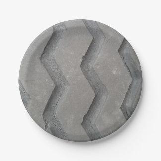 Passo do pneu prato de papel