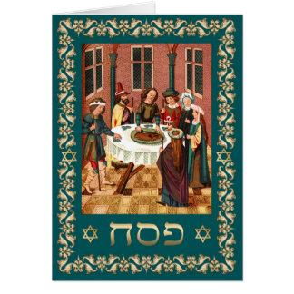 Passover feliz em cartões hebreus das belas artes