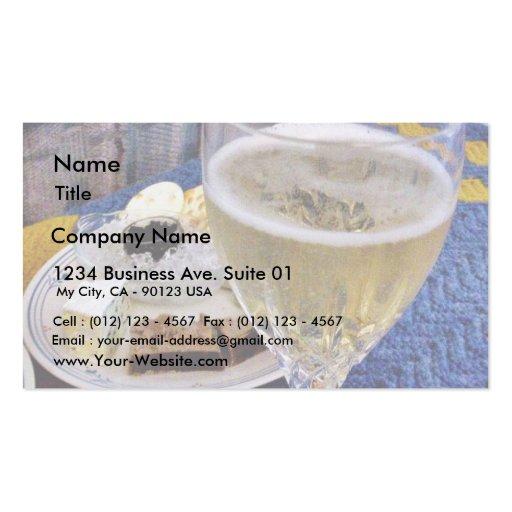 Pasta de pato do caviar do brie e Champagne Modelos Cartões De Visita