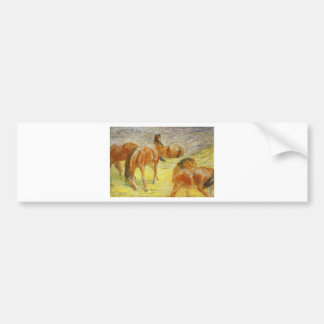 Pastando cavalos por Franz Marc Adesivo Para Carro
