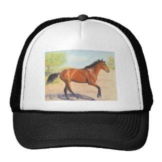 Pastel de mogno do cavalo de baía boné