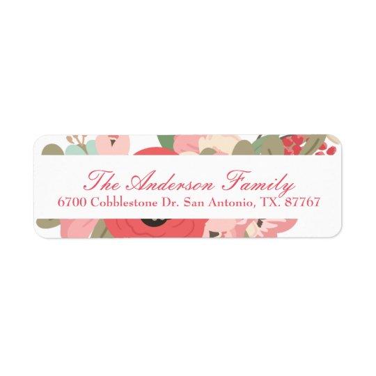 Pastel floral do jardim etiqueta endereço de retorno