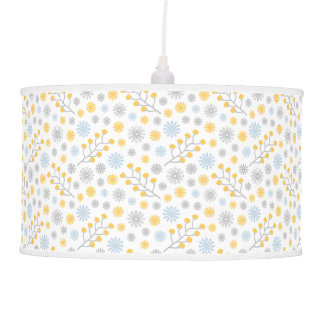 Pastel floral escandinavo da lâmpada moderna