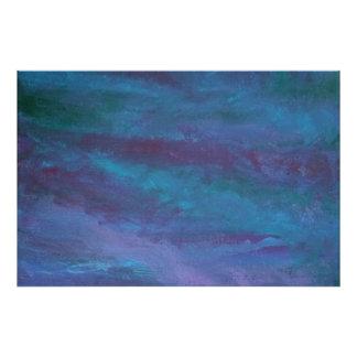 Pastel roxo azul da cerceta da jóia energética impressão de foto