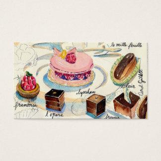 Pastelarias de Paris Cartão De Visitas