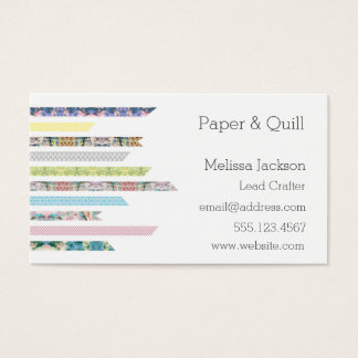 Pastels da fita de Washi | DIY & trabalhos em rede Cartão De Visitas