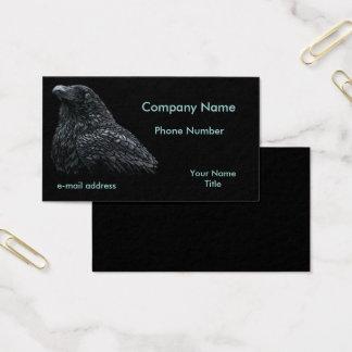 Pastels do corvo no preto cartão de visitas