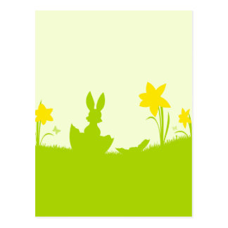 Pasto coelhinho da páscoa narciso cartão postal