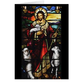 Pastor de Jesus e seus carneiros Cartão Comemorativo