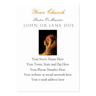 Pastor do leão ou ministro cartão de visita -