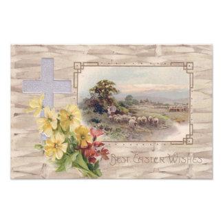 Pastor transversal cristão dos carneiros da margar impressão de foto