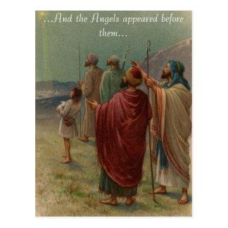 Pastores com seu cartão dos carneiros