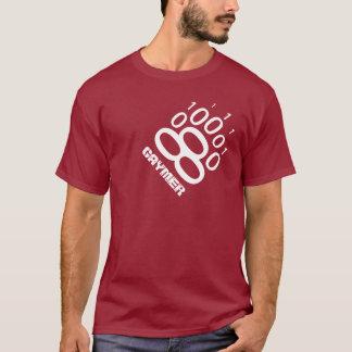 Pata de urso binária de Gaymer (branca) Camiseta