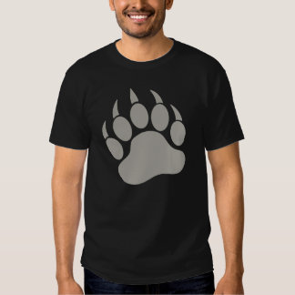 Pata de urso cinzenta t-shirts