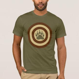 Pata de urso do protetor do super-herói do orgulho camiseta