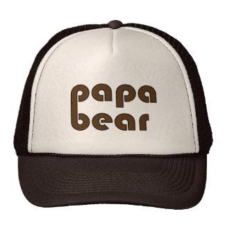 Pata de urso do urso da papá (Brown) Boné