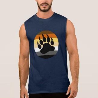 Pata de urso no círculo do orgulho do urso grande camiseta