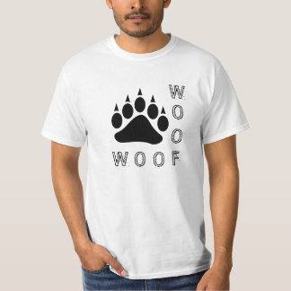 Pata de urso preto diesel do Woof dobro Camisetas