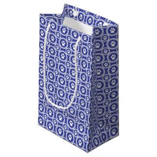 Pata-para-Dando o saco do presente (índigo) Sacola Para Presentes Pequena